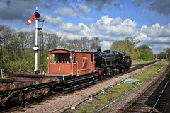 Great Central Railway Swithland Leicestershire 11th May 2019 (loose_grip_99) Tags: greatcentral railway railroad rail train leicestershire eastmidlands england uk goods galore steam engine locomotive transportation preservation gassteam uksteam trains railways swithland sidings lms ivatt stanier 8f 2mt 260 280 48305 46521 footplate