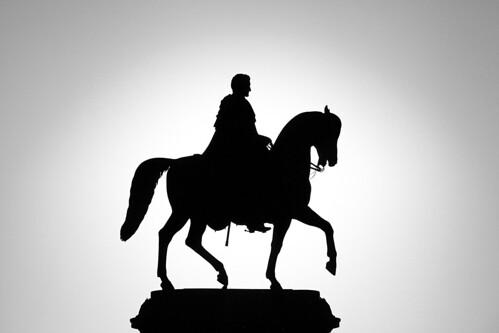 Dresden - The equestrian statue (König-Johann-Denkmal) on the Theaterplatz