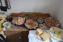 Buffet beim Geburtstagsbrunch einer Freundin (multipel_bleiben) Tags: essen zugastbeifreunden buffet