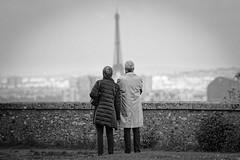 A nous deux Paris - Together (freephysique) Tags: amoureux lovers paris vieux old meudon parc observatoire noir et blanc nikon nb bw black white