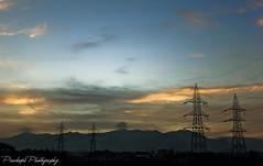 Morning scne of seelanaickenpatti (Pradeepa Pandiyan) Tags: morning mountains seelanaickenpatti salem dawn beaking sunlight power grids village