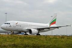 Bulgaria Air LZ-FBA Airbus A319-112 cn/3564 @ Taxiway Q EHAM / AMS 13-10-2016 (Nabil Molinari Photography) Tags: bulgaria air lzfba airbus a319112 cn3564 taxiway q eham ams 13102016