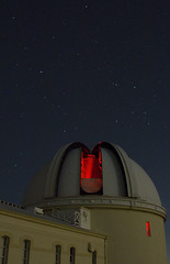 Red Alert (elektron9) Tags: lickobservatory photonight lick observatory astronomy california cali ca us usa westcoast santaclara mounthamilton bayarea sfbay sanfranciscobayarea evening night stargazing astro photo heights greatlickrefractor telescope dome stars sky low light red lights starry