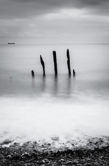 Three sisters. (By Hayan) Tags: blue anchor sea seaside seascape long exposure bw somerset