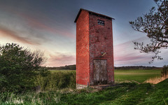 Tower (mokastet) Tags: mokastet tower denmark transformation transformationtower abandoned abandonedbuilding thy hdr sunset