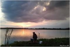 Закінчення дня (Julia Salute) Tags: славута весна пейзаж жибульвіктор рибалка річка небо захід сонця