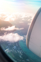 DSC_1143 (Aurmorea) Tags: sun sunset dominican playa beach golden plane boeing airfrance champagne