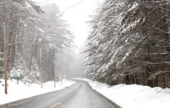 Spring Snow on Kanga Mangus Highway (eileen.mccallum) Tags: snow springsnow newhampshire highway