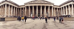 British Museum (Myahcat) Tags: panoramic film 35mm lomo lomography london kodak horizonperfekt people peoplewatching museum britishmuseum