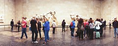 East Pediment (Myahcat) Tags: panoramic film 35mm lomo lomography london kodak horizonperfekt people peoplewatching museum britishmuseum