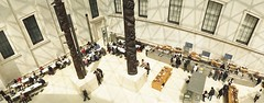 The Great Court (Myahcat) Tags: panoramic film 35mm lomo lomography london kodak horizonperfekt people peoplewatching museum britishmuseum epsonv500