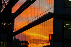 Reflective Abstraction. (Lea Ruiz Donoso) Tags: madrid españa spain color sunset atardecer arquitectura reflejo edificio lineas
