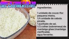 Receitas Low Carb Para Lanche Arroz De Couve-flor Com Ghee (Lowcarb Receitas) (Tipos de Dieta) Tags: ifttt youtube dieta para emagrecer
