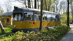 RET Rotterdam tram number 1610 preserved at a camp side in Wieringerwerf, The Netherlands (sirgunho) Tags: camping land uit zee wieringerwerf netherlands noor holland preserved vehicles ret rotterdam tram number 1610 camp side the