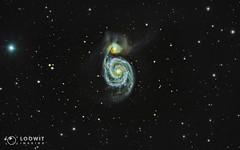 Messier 51 - The Whirlpool Galaxy (Loowit Imaging - Steve Rosenow, Photographer) Tags: space science astronomy astrophotography meade meadelx200 meadeapo meadeseries5000apo nikon nikond5500 m57 messier57 messierobject charlesmessier messiercatalog astrometrydotnet:id=nova3384037 astrometrydotnet:status=solved