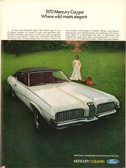 1970 Mercury Cougar Advertisement Playboy December 1969 (SenseiAlan) Tags: 1970 mercury cougar advertisement playboy december 1969