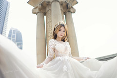 Erene Gown 5 ([EPIX Production]) Tags: people portrait portraits beautiful asian young girl pretty model carshow autoshow wedding gown dress prewedding bride marriage