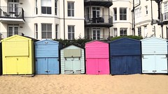 Beach huts and Balconies in Broadstairs.... (markwilkins64) Tags: beachhuts balconies broadstairs kent colours pastels colourful beach sand architecture windows yellow pink blue seaside markwilkins uk british