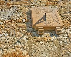 Sundial (Croydon Clicker) Tags: sundial shadow wall timepeice stone carving masonry otford kent