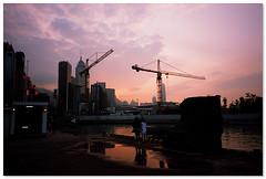 Causeway Bay - 銅鑼灣 (cHoIminG) Tags: hongkong causewabay sunset fujifilm filmphotography filmcamera rdp3 provia gr1s ricoh