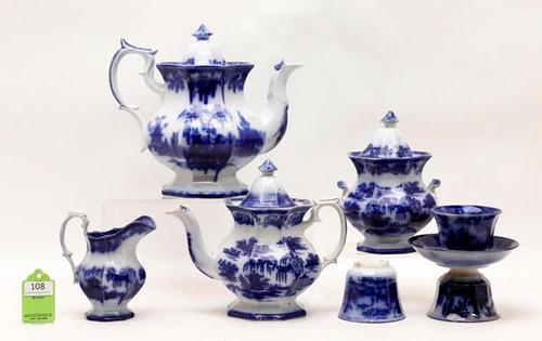 Deep Flow Blue Ceramics, Lot of 8 ($280.00)