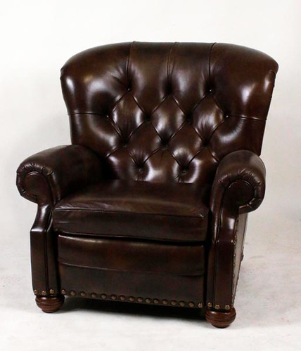 Ethan & Allen Leather Club Chair Recliner ($1,064.00)
