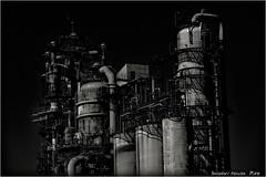 Refinery... (SHADOWY HEAVEN) Tags: 1608247ha0368 出光興産 製油所 北海道 hokkaido 苫小牧 tomakomai 日本 ファインダー越しの私の世界 写真好きな人と繋がりたい 写真撮ってる人と繋がりたい 写真の奏でる私の世界 写真で伝えたい私の世界 coregraphy japan tokyocameraclub igers igersjp phosjapan picsjp モノクロ モノクローム モノクロ写真 白黒写真 bnwlife bnwdemand igersbnw noirshots monochrome mono monotone blackandwhite bw bnw blackwhite noiretblanc japaninbw blackwhitephotos bwartaward dark outdoor surreal スチームパンク steampunk