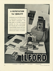 Ilford Film. A reputation for quality. A classic advertisement from The Year's Photography 1950. (Shaun Nelson) Tags: filmphotography filmisnotdead 35mm analog ilford film ishootfilm hp5 ilfordhp5 believeinfilm filmcamera filmcommunity buyfilmnotmegapixels staybrokeshootfilm shootfilm 35mmfilm analogue analogphotography mediumformat ilfordfilm filmsnotdead utfp