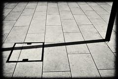 shadow abstract minimalism (Pomo photos) Tags: shadow abstract abstraction minimalism minimalistic geometry x100t sepia blackandwhite blackwhite bw monochrome mono tile square line lines light fujifilm perspective street urban city cityscape retro vintage vignette