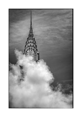 Iconic (Nico Geerlings) Tags: ngimages nicogeerlings nicogeerlingsphotography streetphotography blackandwhite manhattan newyorkcity chryslerbuilding steam architecture iconic skyscraper nyc ny usa