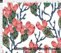 desert biome by mimi pinto (MimiPintoArt) Tags: floral spoonflower fabric wallpaper textile art artist licencing mimipinto australian dessert biome