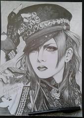 Kuro (Giovana Draw/ デザイン) Tags: visual kei black white grafite graphite illustration jrock desenho grey gray draw ilustração portrait
