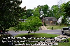 Unedited Sample Album of Converters on Sony 28/2 (FrankHPhillips) Tags: sony a7rii a7rm2 sel057fec sel075uwc sel28f20 fisheyeconverter ultrawideconverter a7