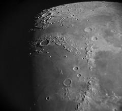 Northern Moonscape (John Kocijanski) Tags: moon afocalastrophotography astronomy explorescientific102ed canong15 nightsky night sky blackandwhite