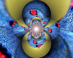 multivers Y (Emmanuelle Baudry - Em'Art) Tags: art artwork abstract abstrait artnumérique artsurreal artfantasy digitalart dimension dream rêve rouge red blue bleu light lumière fractal emmanuellebaudry emart vision vortex spiral spirale spacetrip spacetime