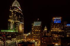 Cincinnati, Ohio (Victor Dvorak) Tags: cincinnati ohio downtown greatamerican pnc firstfinancial buildings architecture city citylights night nightphotography nightshot longexposure nikon d300s 20mmf28d