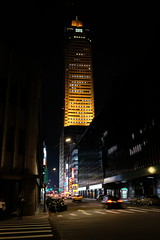 Guanqian Street with Shin Kong Life Tower (theq629) Tags: taiwan taipei building street