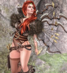 ☼irrISIStible creation☼SPLENDID YGRID ☼ (l.Irina) Tags: ygrid ygritte gamesofthrone games throne iron women clothes skin outfit costume roleplay rp irrisistible appliers jewel necklace headband boots hud hairs maitreya belleza slink hourglass fur wings bow arrow metal belt leather eagle shoulder pet enchantment event