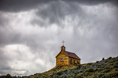 Cloudy Heavens (Jeff Sullivan (www.JeffSullivanPhotography.com)) Tags: church clouds manhattan historic mining ghost town nye county nevada usa abandoned rural decay photography canon eos 5dmarkii photos copyright jeff sullivan may 2019 hdr photomatix weather