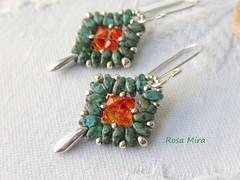 Pendientes con superduos PE.0513 (Espuma de mar by Rosa Mira) Tags: earrings pendientes zarzillos boucles swarovski joya jewelry joyeria jewel joias regalo moda