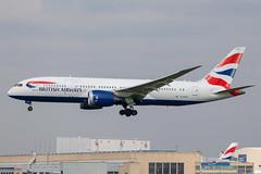 British Airways - Boeing 787-8 Dreamliner G-ZBJG @ London Heathrow (Shaun Grist) Tags: gzbjg ba britishairways speedbird boeing 787 7878 dreamliner shaungrist lhr egll london londonheathrow heathrow airport aircraft aviation aeroplanes airline avgeek landing 27l