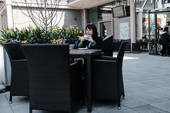 Cafe Culture (Bury Gardener) Tags: suffolk streetphotography street streetcandids snaps strangers candid candids people peoplewatching folks england eastanglia uk 2019 fuji fujifilm fujixt3 burystedmunds britain thearc arc