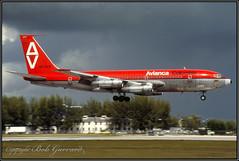 """HK-676 Avianca """"Francisco Antonio Zea"""" (Bob Garrard) Tags: hk676 avianca franciscoantoniozea boeing 720 mia kmia"""