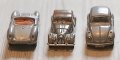 Three old model cars - Looking Close on Friday  -silver-coloured (alisonhalliday) Tags: modelcars canoneos77d canonefs18135mm macro silvercoloured lookingcloseonfriday