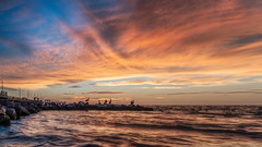 Sailors Delight (justenoughfocus) Tags: pinellascounty sonyalpha clouds cloudscape florida fortdesotopark gulfcoast madewithluminar pelicans seascape skylum sonyimages stpetersburg unitedstates locations saintpetersburg