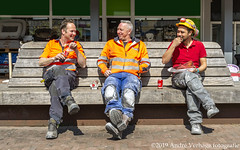 construction workers at lunch (jada photography) Tags: ijmuiden noordholland netherlands construction workers lunch sitting cola drinks eating eat site building male helmet worker industry people professional industrial men safety architect foreman work business person builder engineer architecture occupation teamwork contractor team development working group outdoors estate engineering man equipment background civil job house young protection real urban crane builders manager plan hardhat design manual protective project