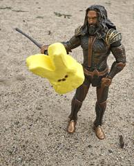 Aquaman and the Peep (chuckh6) Tags: peep aquaman figurine toy