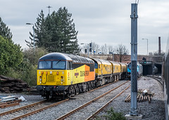 "56049 ""Robin of Templecombe 1938-2013"" Colas Rail Freight"" Doncaster 21.03.19 (Paul David Smith (Widnes Road)) Tags: 56049 robinoftemplecombe19382013 colas rail freightdoncaster21031956class 56"
