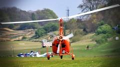 G-OWLS Magni M24C Orion (BIKEPILOT, Thx for + 5,000,000 views) Tags: popham eghp hampshire uk airport airfield aerodrome aircraft autogyro orange flying flight aviation rotarywing england britain gowls magni m24corion