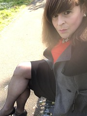 Just needed to get out have a drive and walk in the park (Sarah-Eileen) Tags: pencilskirt stilettogirl tgurl crossdressing crossdresser tranvestite